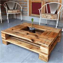 Trendy Wooden Coffee Table Pallet Furniture